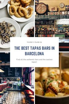 Looking for some tasty tapas in Barcelona? Here is a long list of all the best tapas bars, with local classics, seafood tapas and much more! Barcelona Bars, Barcelona Food, Barcelona Restaurants, Visit Barcelona, Tapas Restaurant, Restaurant Design, Barcelona Travel Guide, Best Tapas, Good Foods To Eat