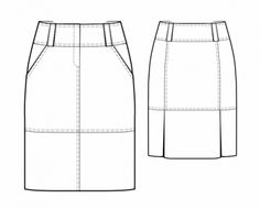 Skirt With Yoke - Sewing Pattern #5736 - $2.49 (Enter your measurements for a custom-size pattern!)