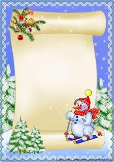 РАДУГА ИДЕЙ ДЛЯ ДЕТЕЙ — ЗИМНИЕ И НОВОГОДНИЕ ФОНЫ   OK.RU Christmas Boarders, Christmas Frames, Christmas Scenes, Christmas Pictures, Vintage Christmas, Christmas Diy, Christmas Cards, Christmas Decorations, Christmas Letterhead