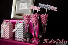 Pink and Gray Party Favors -