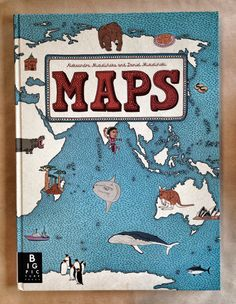 A book containing many different types of maps to look at and explore for students! Great learning tool for students to see how maps can be very different!
