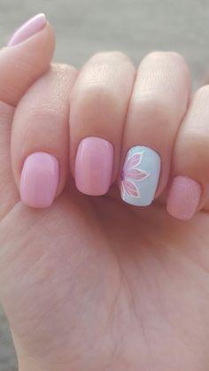 #pinknails #blue #flowers