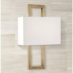 Possini Euro French Brass 15 Rectangular Wall Sconce is a quality Bathroom Lighting for your home decor ideas. Glass Wall Lights, Modern Wall Lights, Brass Sconce, Wall Sconce Lighting, Stairway Lighting, Basement Lighting, Diy Birthday Card, Hallway Sconces, Chandeliers
