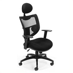 OFM Parker Ridge Series Executive Chair  Mesh Back Office Chair with Headrest Black 580 -- To view further for this item, visit the image link.Note:It is affiliate link to Amazon. #HomeOfficeFitting