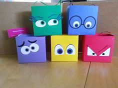 Items similar to Inside Out Inspired treat boxes - set of 10 on Etsy Disney Inside Out, Inside Out Party Ideas, Super Party, Diy Party, Ideas Party, Girl Birthday, Party Time, Crafts For Kids, Projects To Try