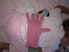 Glove with rice to put on kiddo's back!! 27 Genius Parenting Hacks To Make A Parents Job Easier