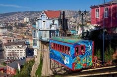 Some of the world's best transports - one is ARTILLERiA FUNICULAR, VALPARAISO, CHILE: