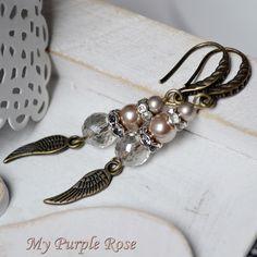 Ohrringe romantisch und edel von My Purple Rose auf DaWanda.com
