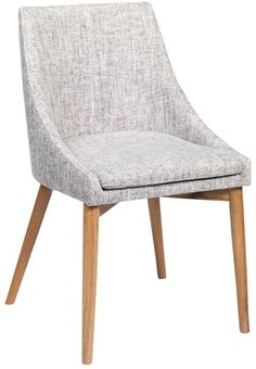 Madison+Spisestuestol+-+grå++-+Flott+spisestuestol+med+praktiske+armlener.+Spisestuestolen+er+trukket+med+grått+stoff+med+ben+i+oljet+eik+som+gir+stolen+et+flott+preg.+Spisestuestolen+kan+gjerne+kombineres+med+spisebordet+fra+New+Shape-+eller+Link-serien.