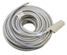 Allen Tel 25-3-PX-100-GY Plug In Connector Cable Patch Cord, 100-Foot Length, 90 Degree Male Plug At One End Only by Allen Tel. $157.07. From the Manufacturer                Allen Tel Products Inc. offers a complete line of plug-in connector cables. They are available in 25 pair with various plug, connector and length combinations. Conductors are 24 AWG bare solid annealed copper wire. Polyvinyl chloride is used as insulation over the conductors. It is semi-rigi...