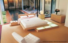 Japanese style bedroom, Japanese bedroom decor ideas and furniture design Top tips on how to add Japanese style bedroom and how to choose Japanese bedroom furniture, Best Japanese bedroom decor and design ideas for your bedroom interior design Modern Bedroom Design, Contemporary Interior Design, Contemporary Bedroom, Bedroom Designs, Modern Contemporary, Modern Design, Modern Interior, Platform Bed Designs, Wood Platform Bed