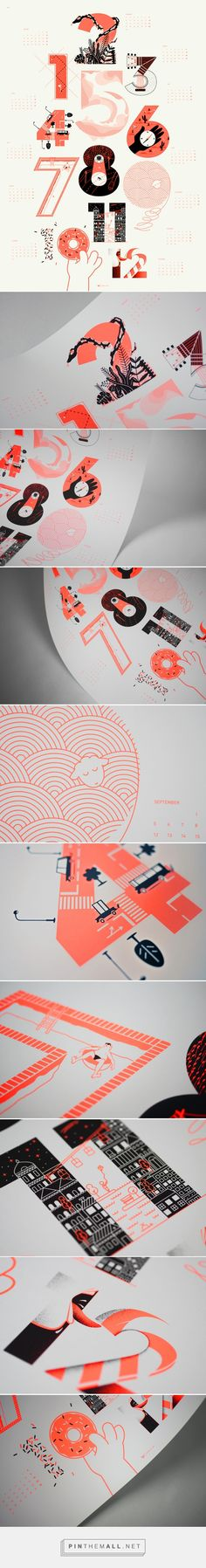 upstruct calendar 2016 on Behance... - a grouped images picture - Pin Them All
