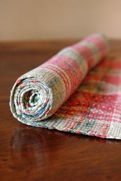 Vintage Rag Rug // Scandinavian Floor Runner // 6 ft by 86home, $360.00