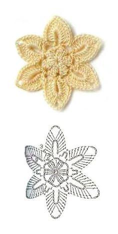 Různé kytičky a aplikace- Crochet flowers, decorations - An Crochet Bee, Crochet Sunflower, Crochet Butterfly, Crochet Leaves, Crochet Motifs, Crochet Buttons, Crochet Chart, Thread Crochet, Irish Crochet