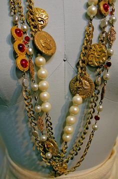 Vintage Miriam Haskell 3 piece necklace set from the 1950s