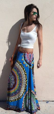 Garden Maxi Skirt Blue - Boca Leche  Link doesn't work, but I wouldn't mind finding a similar skirt for when we go to Cali!!