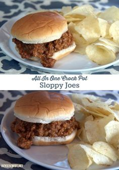 Make this entire recipe of sloppy joe in the crock pot for dinner without dirtying another pan or pot. Simple, Delicious family meal.