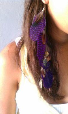 purple feathers.