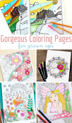 Hand painted papers stash building cloth paper scissors journal gorgeous coloring pages for grown ups fandeluxe Images