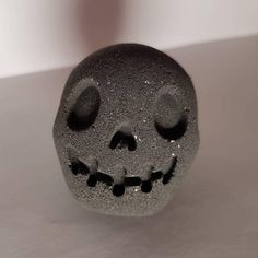Creepy Raspberry and Rose Black 3D Skull Bath Bomb with Silver