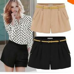 2014 Summer Women New Thin Backing Leisure Chiffon Culotte Shorts Hot Pants S XXL #D70189-in Shorts from Apparel &