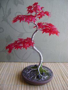 Heritage #bonsai Japanese Red Maple Steel Tree by HeritageBonsai
