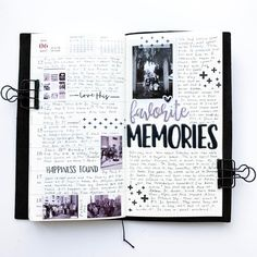 """Theresa D on Instagram: """"Week 24 in my traveler's notebook.  Had a great weekend with family and really wanted to cover these pages with more photos!"""""""