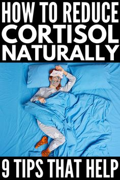 How to Reduce Cortisol Levels Naturally | Symptoms of high cortisol range from insomnia and fatigue, to belly bloat and weight gain, to IBS and high blood pressure and more. If you suspect you have an imbalance in your stress hormones and want natural tips to help lower cortisol secretion so you can sleep better, lose weight, and improve your health, this post is for you! We're sharing everything you need to know about cortisol, along with 9 natural ways to reduce it and live your best life! Reducing Cortisol Levels, High Cortisol, Bloated Belly, Sleep Schedule, Sleep Better, How To Get Sleep, Sleep Deprivation, Ibs, Household Tips