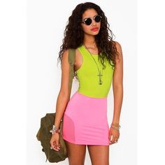 HP 10/1RARE! Nasty Gal x MinkPink Skirt NEVER BEEN WORN NWT. Neon pink knit mini skirt from the sold out Nasty Gal x MinkPink collection! Size Large. Mesh panels at the bottom of each side. High waisted. Perfect condition. Nasty Gal Skirts