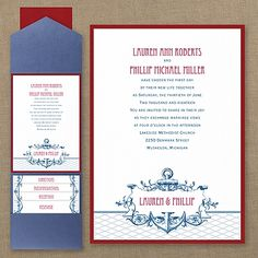 It's A Shore Thing - Layered Pocket Invitation - Wedding Invitations - Wedding Invites - Wedding Invitation Ideas - View a Proof Online - #weddings #wedding #invitations