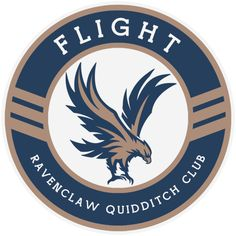 The Hogwarts House Quidditch Teams reimagined as a new league with modernised team names, mascots and logos. | Flight | Ravenclaw Quidditch Club