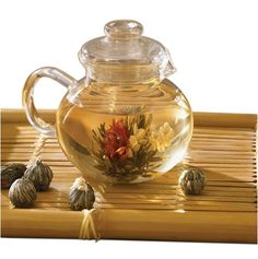 Primula Glass Teapot with 6 Tea Flowers >>> You can get more details by clicking on the image.