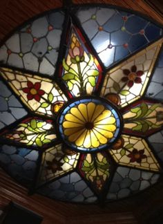 Stained-glass ceiling, perhaps for an entryway?
