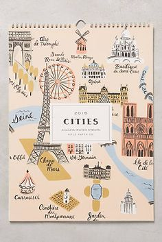 Cities 2016 Calendar by anthropologie