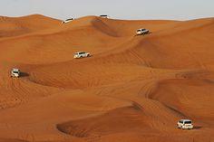 4Running in the sand dunes at Dubai!