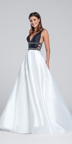 Elegant V Neck Prom Dress EW117144