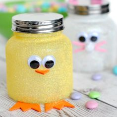 Add a little sparkle and sweet to your Easter with these cute, simple candy jars