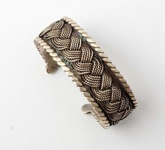 Hector Aguilar Braided Silver Cuff Bracelet