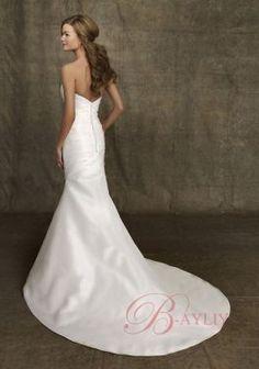 Discount Cinderella Wedding Dresses Mermaid Strapless Sweetheart Neck Taffeta J1004