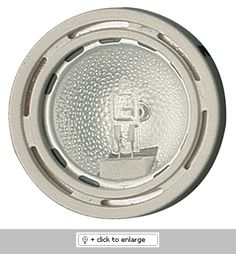 "Mini Surface Mount Downlight with Clear Glass Lens    Downlight with 1 1/2"" reflector and protective lens.    ETL Listed for remote transformers  Lamp: 12V 20W JC lamp (included)    Dimension: Height: 7/8"", Cutout: 2 1/4"", Trim O.D.: 2 5/8"""