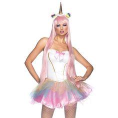 Fantasy Eenhoorn korte jurk kostuum met led verlichting multicolours - kostuum…