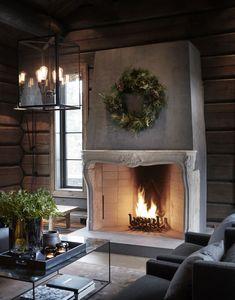 〚 Modern chalet with moody dark interiors in Norway 〛 ◾ Photos ◾Ideas◾ Design Dark Interiors, Cabin Interiors, Beautiful Interiors, Hm Home, Herd, Winter House, Scandinavian Home, Interior Exterior, Living Room Modern