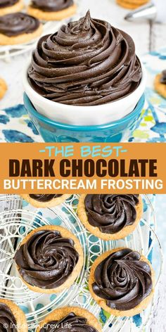 Best Dark Chocolate Buttercream Frosting Recipe Dark Chocolate Buttercream Frosting – this rich homemade frosting is creamy and delicious and full of dark chocolate flavor. Make this easy six ingredient recipe for all your cakes, cookies, or cupcakes. Chocolate Icing Recipes, Dark Chocolate Frosting, Chocolate Flavors, Chocolate Desserts, Chocolate Frosting Recipe For Cupcakes, Best Frosting Recipe, Homemade Frosting Recipes, Hot Chocolate, Frost Cupcakes