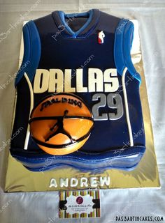 Dallas Mavericks Jersey Cake!!