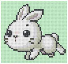PDF Cross Stitch pattern 0080.White Bunny door PDFcrossstitch