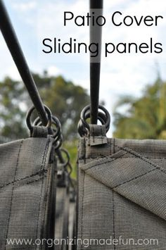 Patio cover rings for panels. Could use this type of method for camper awning