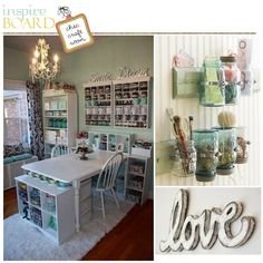 Craft Room Organization | board please share your ideas and craft rooms with us