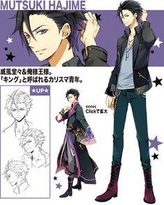 """Kousuke Toriumi como Mutsuki Hajime miembro de Six Gravity . Akihabara Station 秋葉原駅: Manga: Mas detalles del anime de idols masculinos"""" Tsukiuta: The Animation"""""""