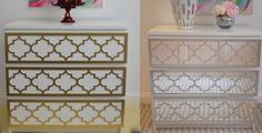 OVERLAYS are the easiest & most fun way to add instant glam and style to plain Ikea furniture. Overlays are decorative, pre-cut panels specifically made to fit Ikea furniture. They can be easily attached to furniture, walls, mirrors, and even glass! ~ myoverlays.com