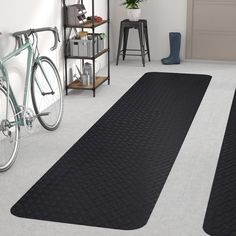 Garage Floor Mat Protector Rubber Oil Resistant 4 X 6 x1//8 Front Andys Carpets.